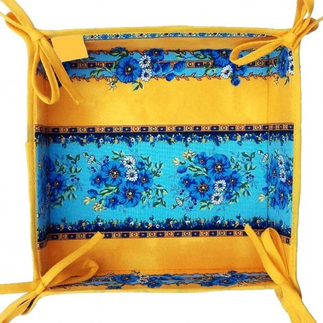 Decorative tidy printed Tradition yellow