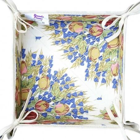 Bread basket printed Rose and Lavender