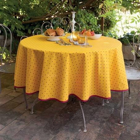 Nappe ronde en coton, imprimé provençal Calisson