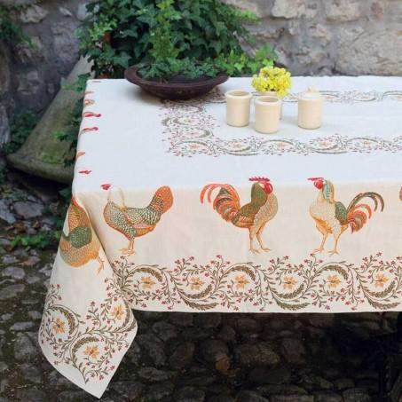 nappe de decoration pour table carrée en tissé Jacquard