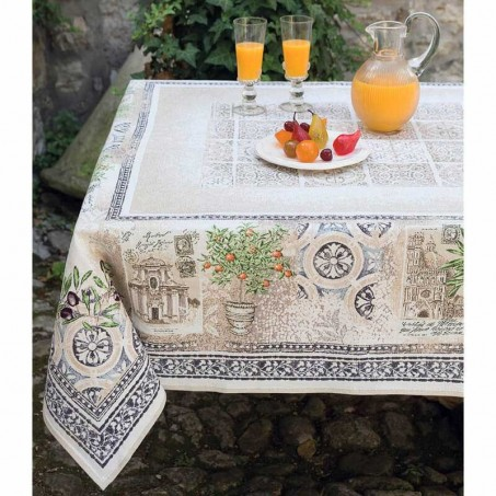 Coffee table cloth, square, Jacquard Riviera