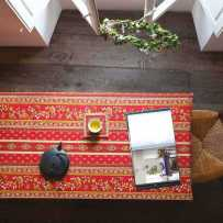 Dining table cloth, Avignon stripe by Marat d'Avignon red