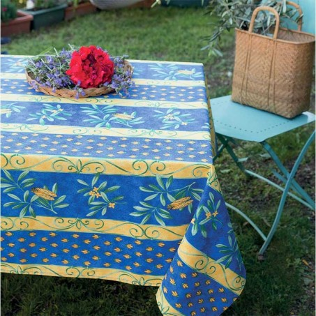 Outdoor tablecloths rectangular, Cigales print in scene