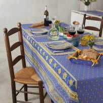 Dining room table cloth, rectangular and striped, Bastide by Marat
