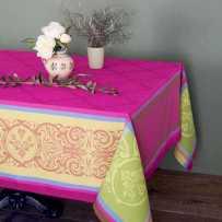 Stain resistant tablecloth jacquard Renaissance