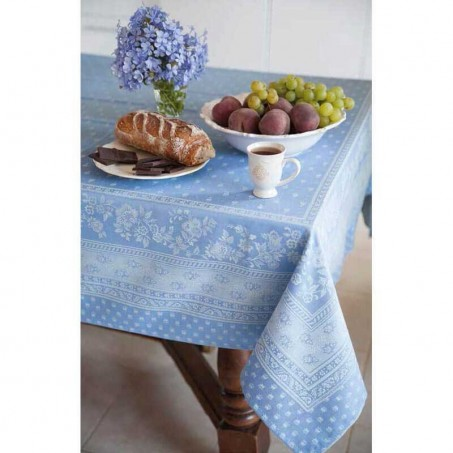 French tablecloths anti stain Jacquard Durance, Marat d'Avignon blue