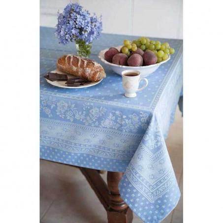 Nappe rectangulaire, tissé Jacquard Durance bleu