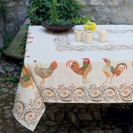 Rectangular table mat Chanteclair in scene