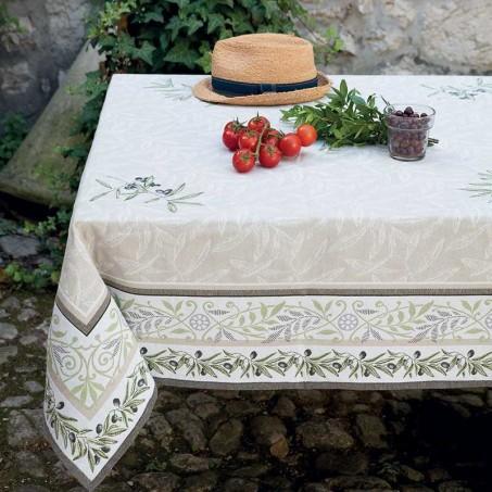 Tapis de table rectangulaire Auriol mis en scène