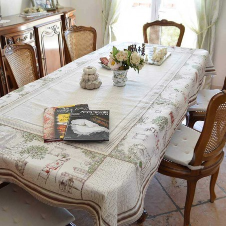 Decorative rectangular tablecloth Jacquard Gordes