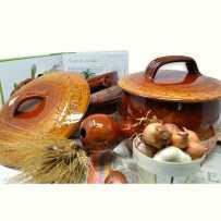 : Grande casserole en ceramique avec couvercle, Vallauris