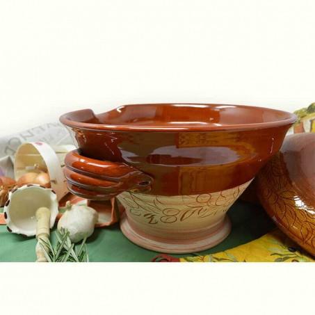 Tian provençal en poterie culinaire de Vallauris