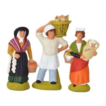 Véritables Santons de Provence   Kit Creche de Noël 3 Santons