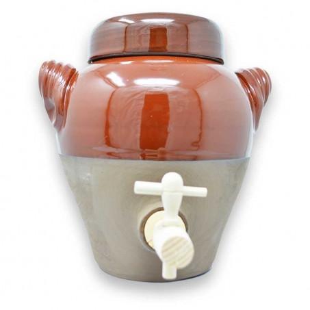 Vinegar maker jar handmade in pottery of Vallauris, Provence