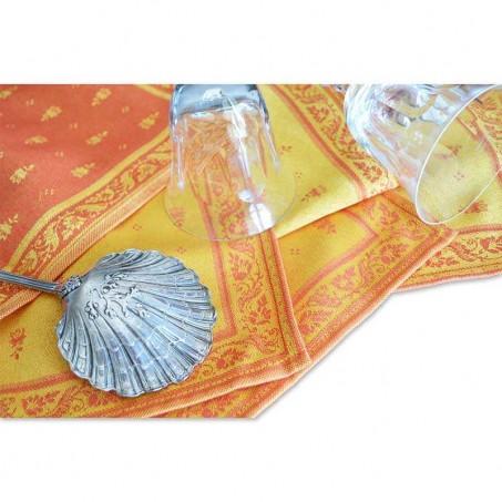 Square napkins, woven Jacquard Durance, Marat d'Avignon