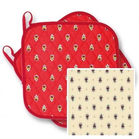 ensemble tablier gant manique en tissu provençal
