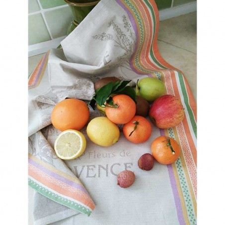 kitchen hand towel jacquard lavender