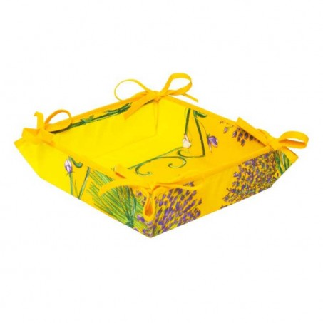 bread basket lavender yellow