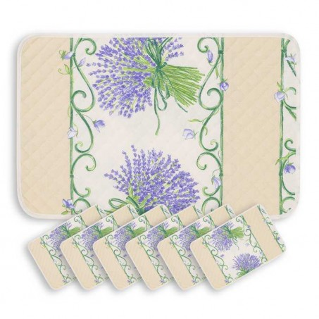placemats Bouquet de lavande white