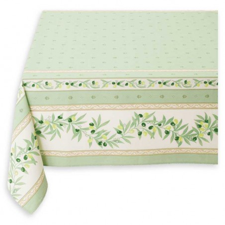 green square tablecloth Ramatuelle