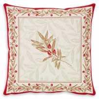 Cushion cover ecru red