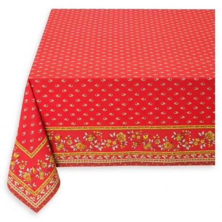 Rectangular red tablecloth, Avignon framed, Marat d'Avignon