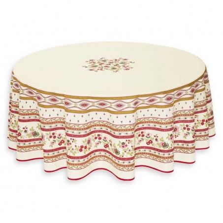Provence tablecloth round Avignon, Marat d'Avignon white