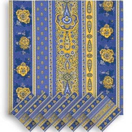 Serviette de table tissu Bastide, Marat d'Avignon rayée lavande