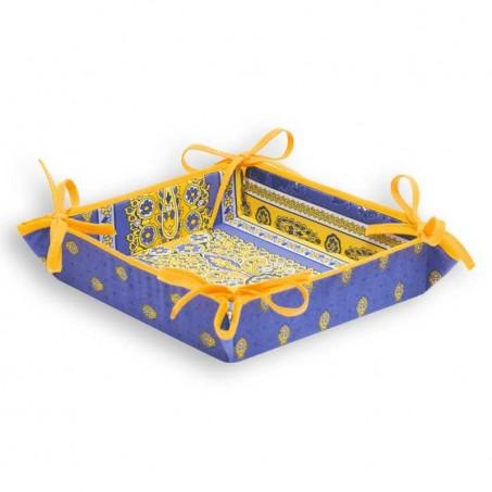 Bread basket Bastide printed fabric lavender