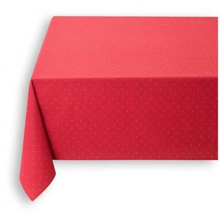 Nappe provencale rectangulaire, imprimé Calissons rouge