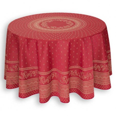 red table cloth Jacquard Durance, Marat d'Avignon