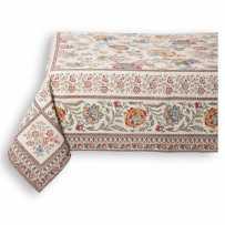 Square tablecloth woven Jacquard Garance, Marat d'Avignon yellow