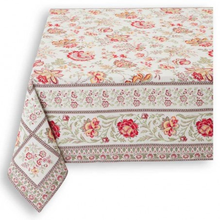 Tapis de table carrée Garance rouge