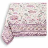 Decorative tablecloth, woven Jacquard Montespan lilac