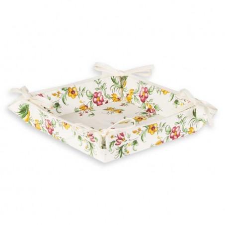 Corbeille à pain Moustiers en tissu imprimé provençal rouge