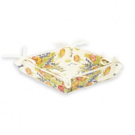 Vide poches en tissu, imprimé provençal Roses et Lavandes