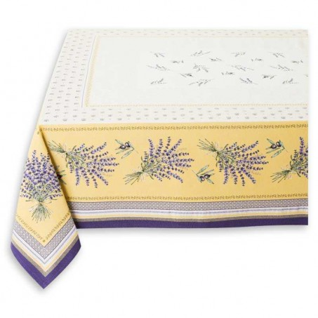 square linen lavender tablecloth