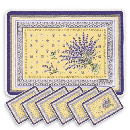 lot set de table jacquard