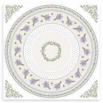 nappe pour table ronde provencale 180
