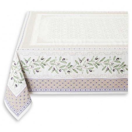 Linen jacquard table cloth Luberon