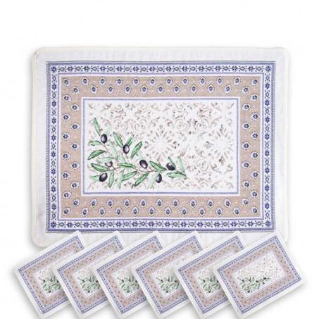 Set de table déco en tissu jacquard Luberon