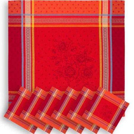 holiday red cloth napkins cotton