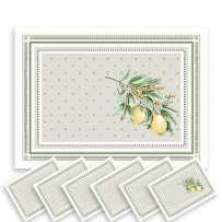 fabric placemats - dinner mats - natural placemats