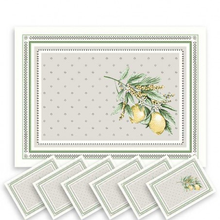 fabric placemats - dinner mats - natural placemats