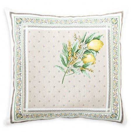 home pillow cover lemon pattern