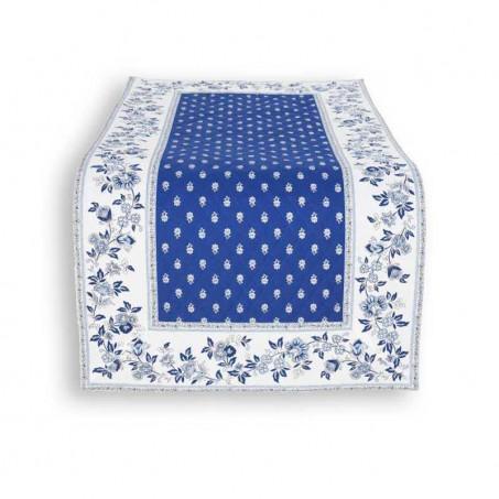 chemin de table bleu marine matelassé
