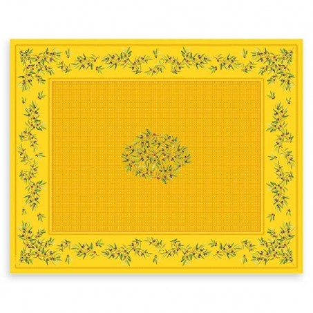 nappe 350 x 150 rectangulaire enduite jaune