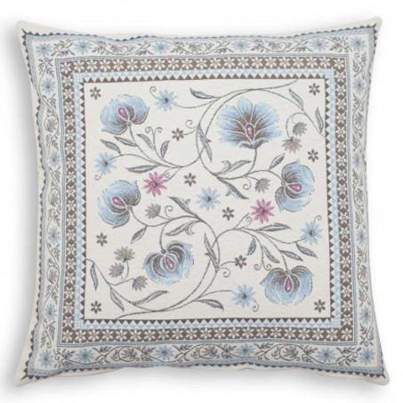 coussin bleu gris - decoration textile maison