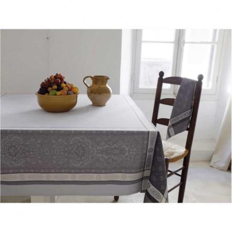 grey tablecloth