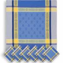 blue cloth napkins